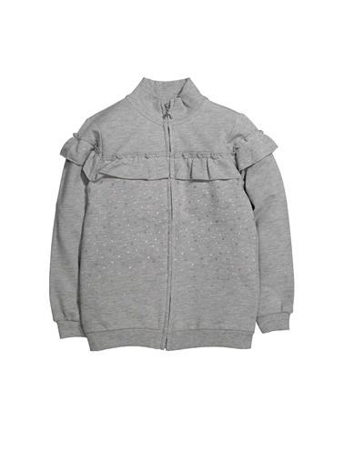 Zeyland Puantiyeli Fırfırlı Fermuarlı Sweatshirt (12ay-4yaş) Puantiyeli Fırfırlı Fermuarlı Sweatshirt (12ay-4yaş) Gri